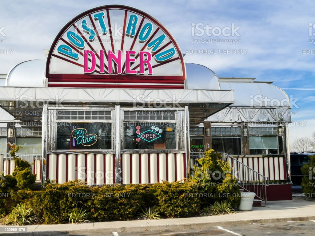 Exterior From Vintage Post Road Diner Stock Photo Download Image Now Istock