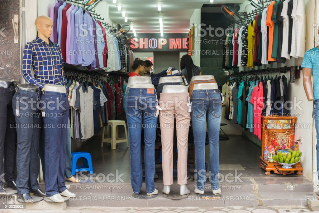 Hanoi Vietnam Mar 15 2015 Exterior Front View Of Small Fashion