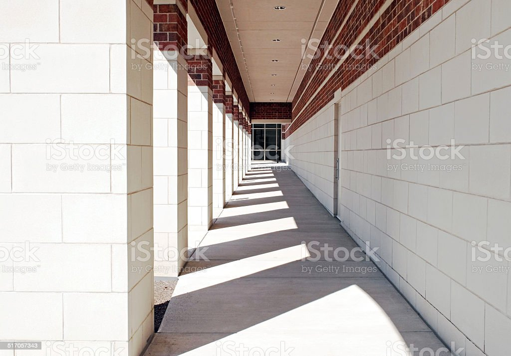 Exterior Geometric Walkway stock photo