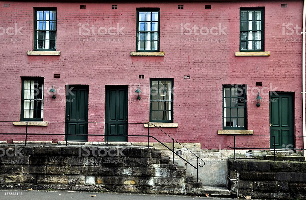 Exterior in The Rocks, Sydney royalty-free stock photo