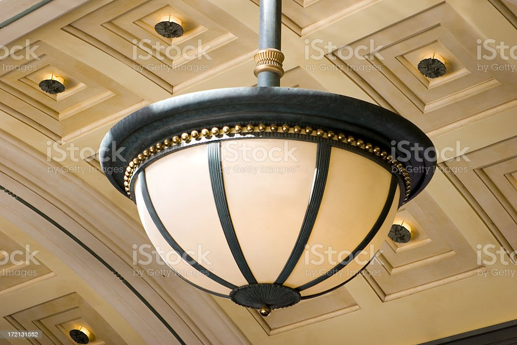 Exterior Light Fixture stock photo