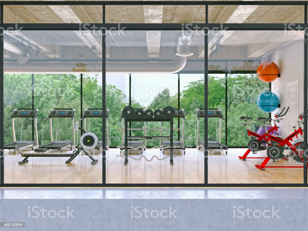 Aussenansicht eines Builds Turnhalle Gebäude – Foto
