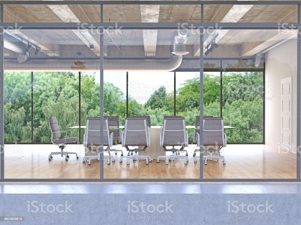 Außen ein modernes Bürogebäude bauen – Foto
