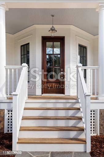 Steps leading up to the entryway
