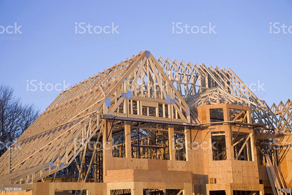 Exterior of a Large Home Construction Project royalty-free stock photo