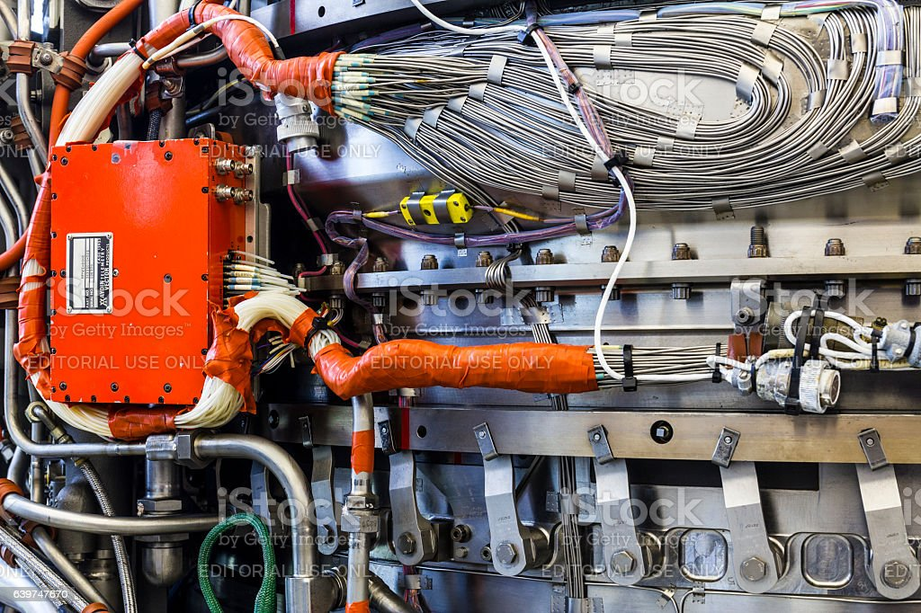 Exterior of an F135 Jet Engine LiftSystem (c) stock photo