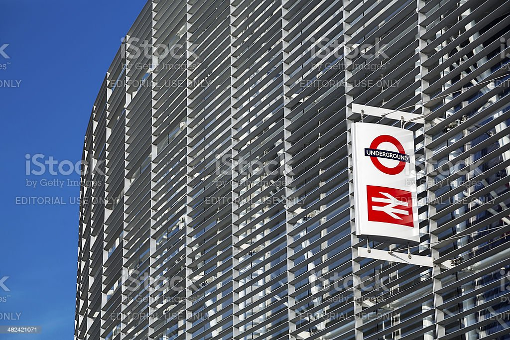 Exterior of Blackfriars Station, London stock photo