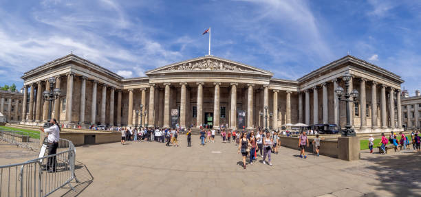 Exterior of British Museum - foto stock