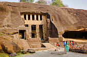 istock Exterior of Buddhist heritage cave temple Kanheri cave 1290162047