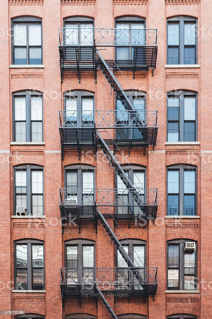 Exterior of buildings in New York City stock photo