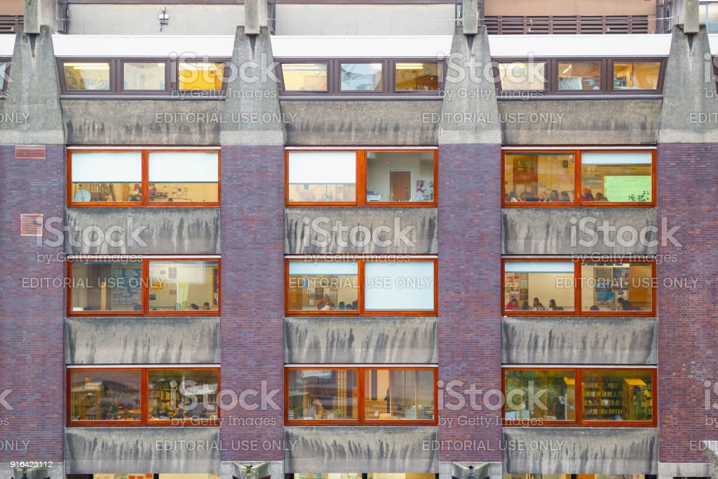 Exterior Of City Of London School For Girls At Barbican Estate Complex In London Stock Photo Download Image Now Istock