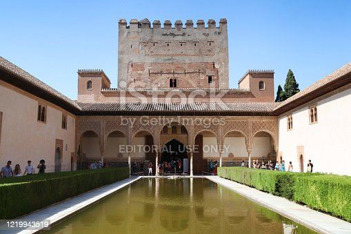 istock Exterior of Comares Palace and Tower, Granada, Spain 1219943519