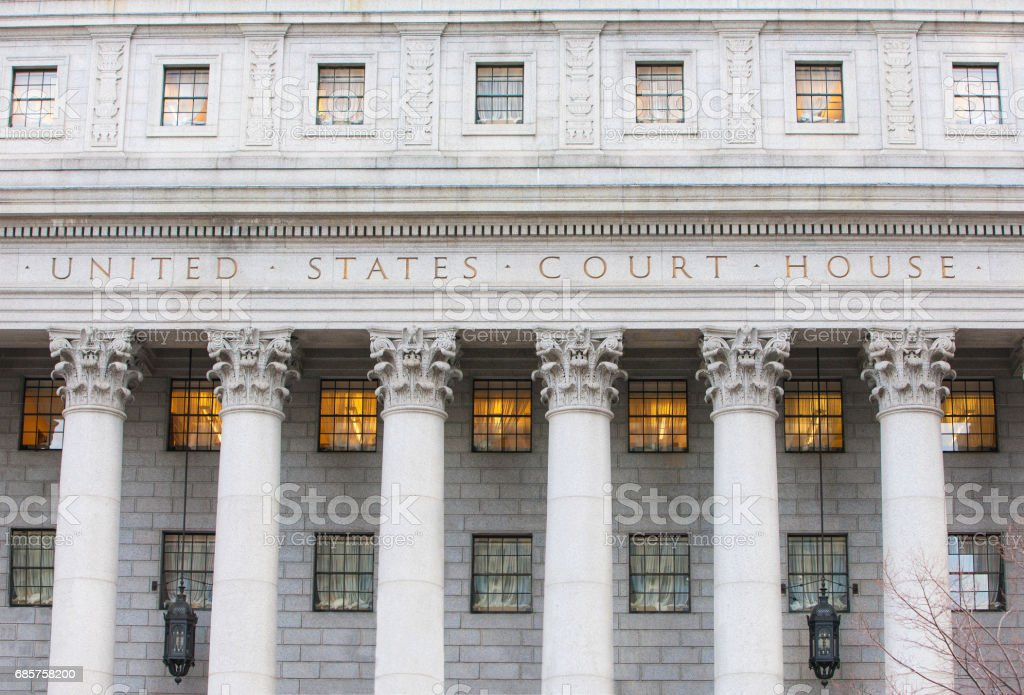 Exterior of Courthouse. royalty-free stock photo