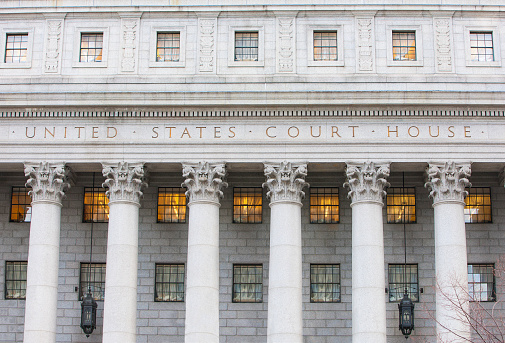 Exterior Of Courthouse Stock Photo - Download Image Now
