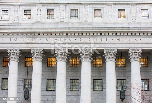 Exterior Of Courthouse Stock Photo & More Pictures of American Culture