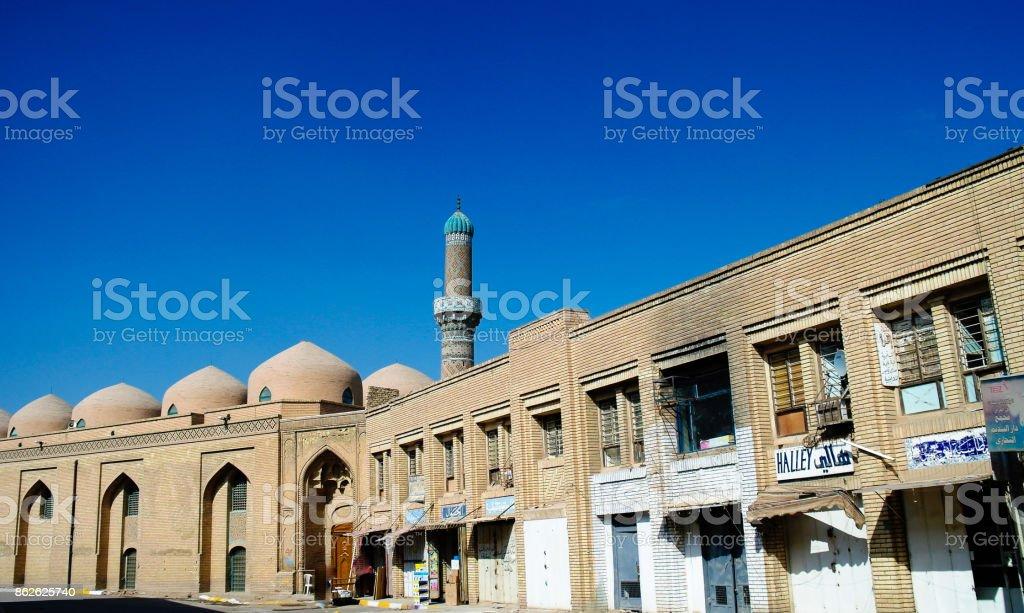 Exterior de la Universidad Al-Mustansiriya famosa y madraza, Bagdad, Iraq - foto de stock