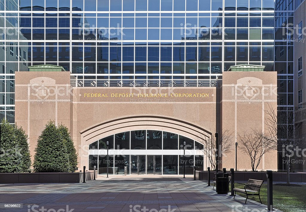 Exterior of Federal Deposit Insurance Corporation royalty-free stock photo