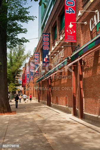 Boston: Fenway Park is a baseball park located in Boston, at 4 Yawkey Way near Kenmore Square. Since 1912, it has been the home for the Boston Red Sox, the city's American League baseball team, and since 1953, its only Major League Baseball franchise.