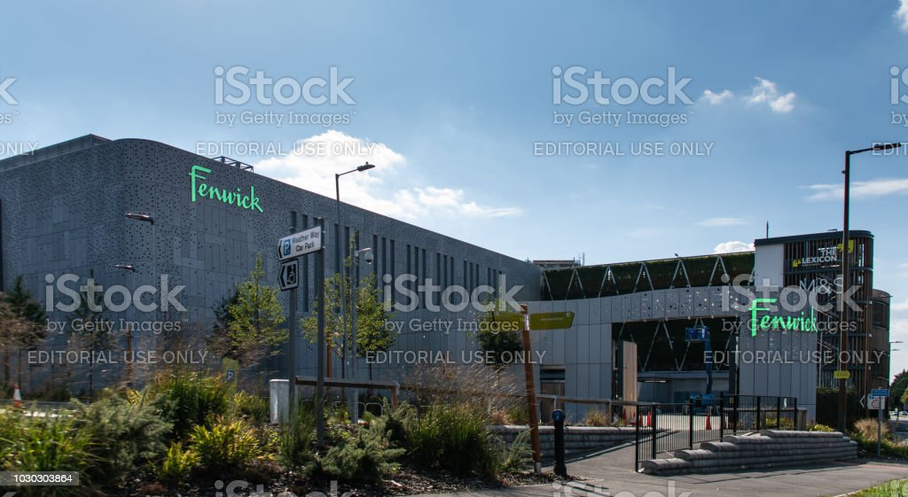 Exterior of Fenwicks and M&S at the new Lexicon Shopping Centre, opened in 2017 stock photo