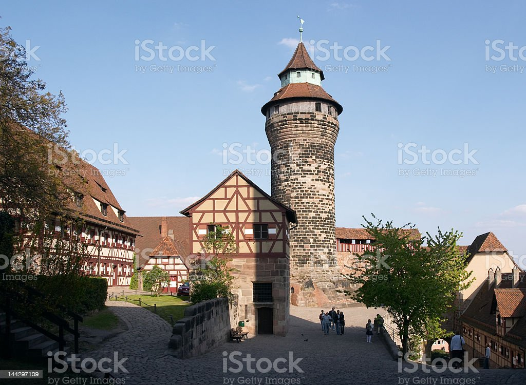 Exterior of Imperial Castle in Nuremberg, Germany stock photo