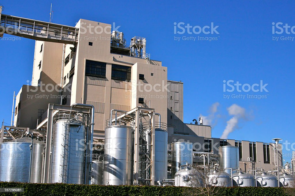 Exterior of industrial manufacturing factory stock photo