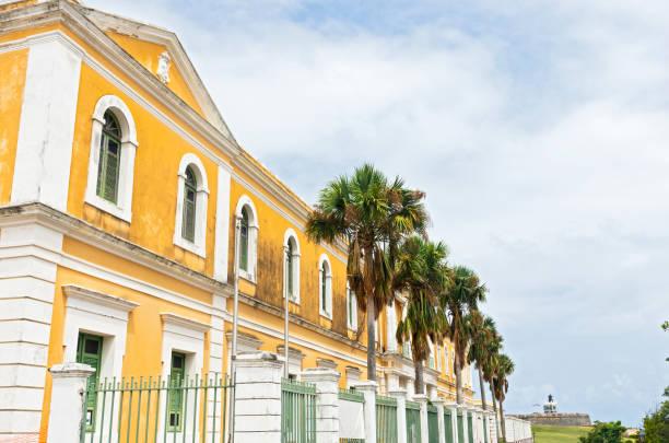Exterior of Institute in Old San Juan stock photo