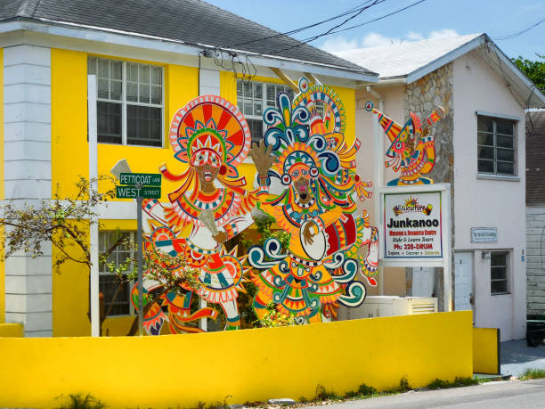 Exterior of Junkanoo Museum in Nassau, Bahamas stock photo