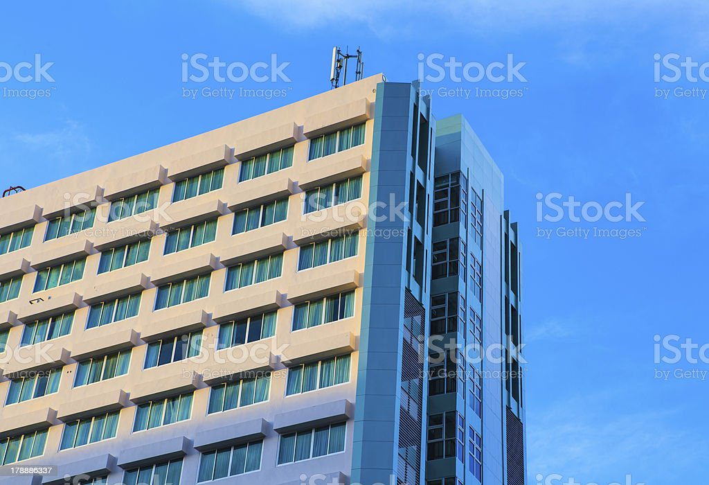 exterior of luxury hotel royalty-free stock photo