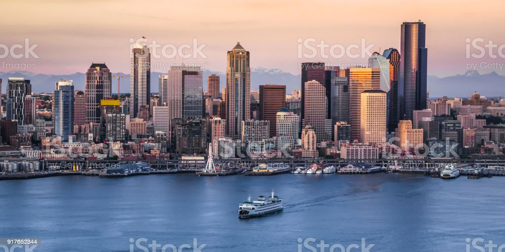 Exterior of modern cityscape stock photo