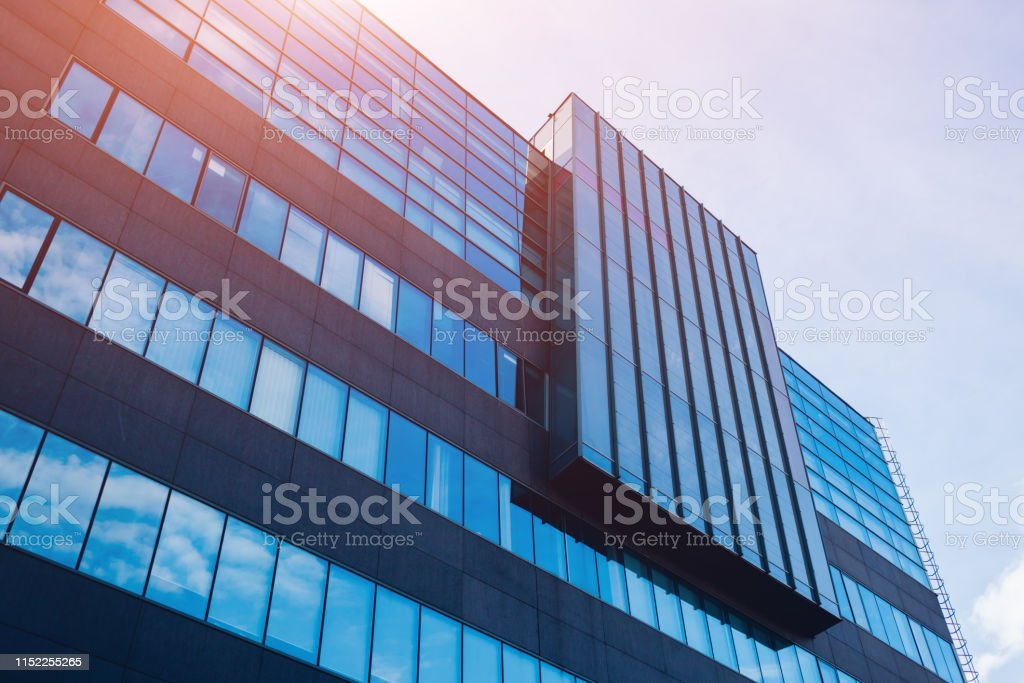 Exterior Of Modern Glass Business Center Architecture Of High ...