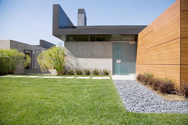 Exterior of modern house  modern house stock pictures, royalty-free photos & images