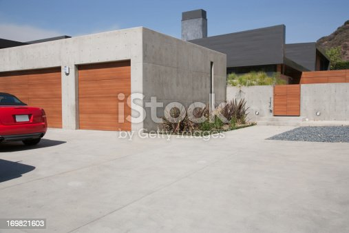 istock Exterior of modern two-car garage 169821603