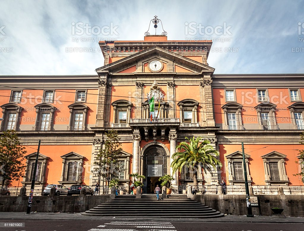 Exterior of Museo Archeologico Nazionale. stock photo