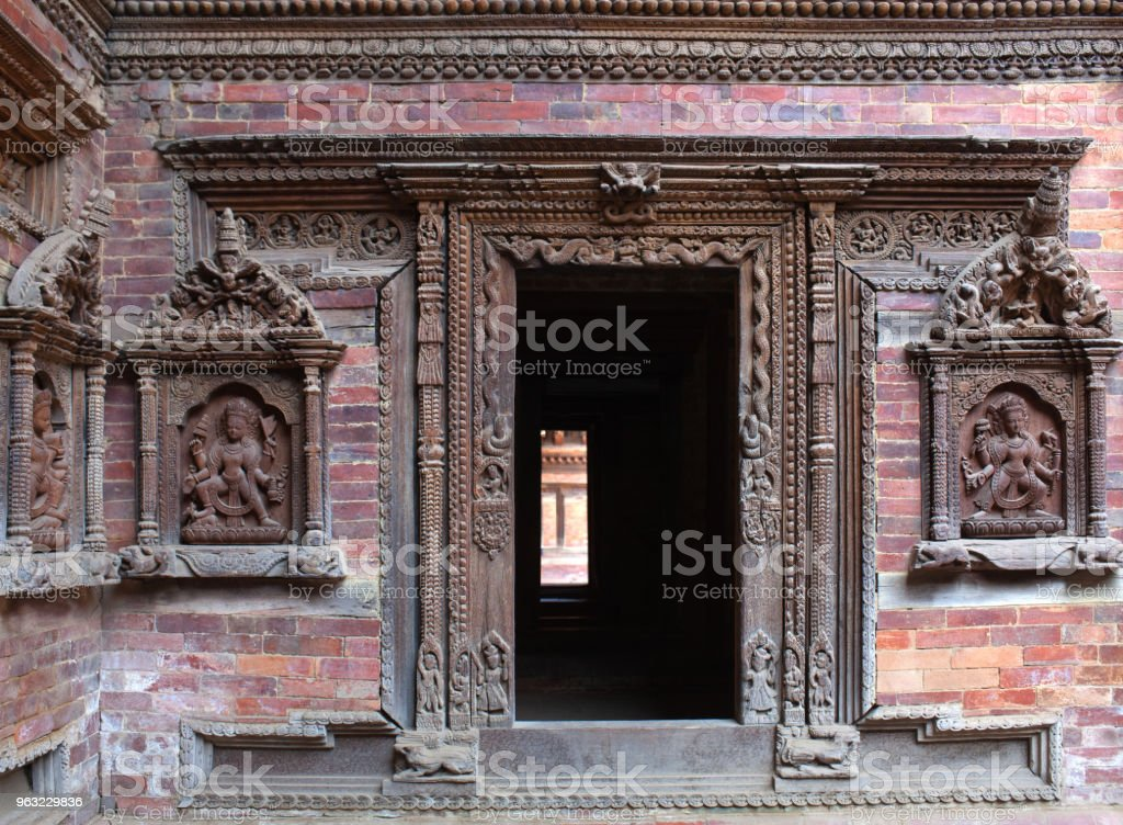 Exterior of palace in Patan, Kathmandu valley, Nepal stock photo