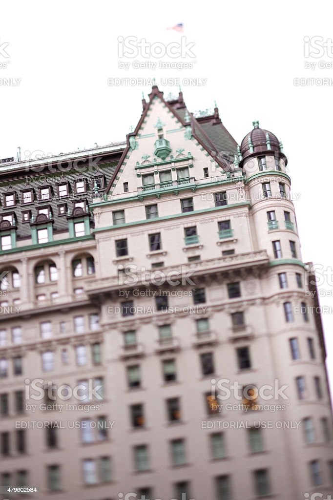 Exterior of Plaza Hotel in NYC stock photo