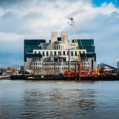 Exterior of Secret Intelligence Service, SIS, MI6, building in London