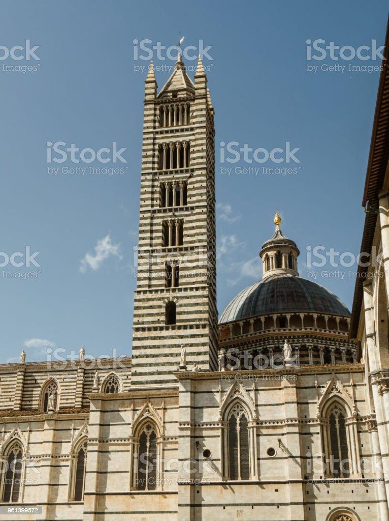 Buitenkant van Siena Cathedral, Italië - Royalty-free Antiek - Toestand Stockfoto