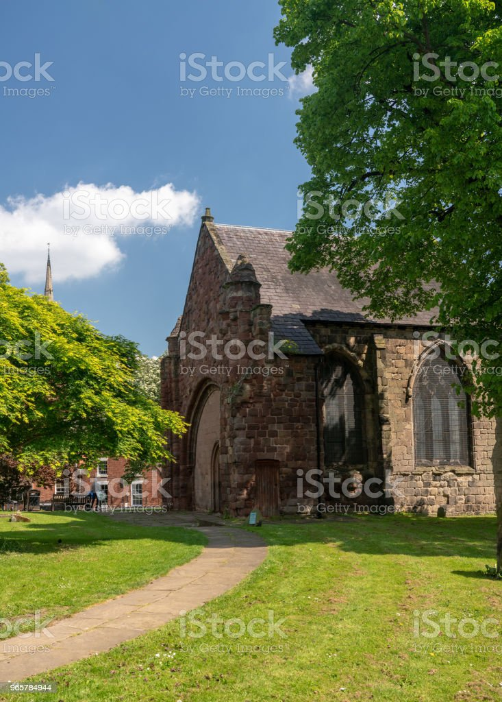 Buitenkant van de kerk van St Tsjaad in Shrewsbury - Royalty-free Architectuur Stockfoto