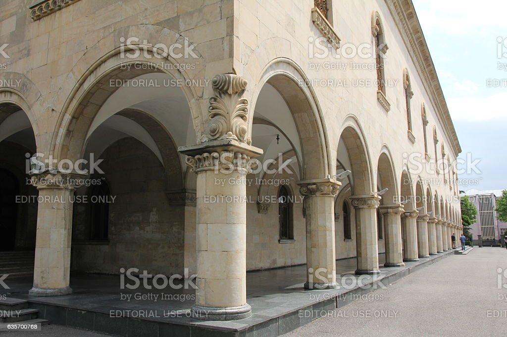 Exterior of Stalin Museum in Gori royalty-free stock photo