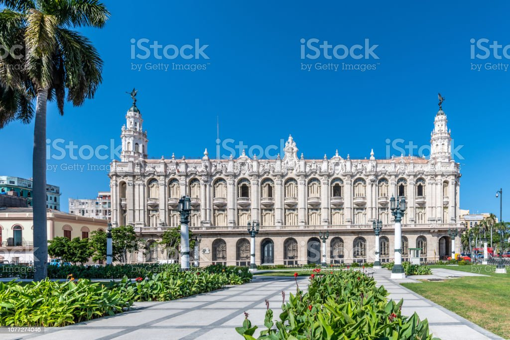 Exterior of the 1838 building, Great Theatre of Havana stock photo