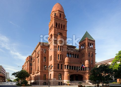 Beautifully restored Romanesque Revival style courthouse built in 1892 in San Antonio, Texas.  (To see all my Texas Courthouses, click here)