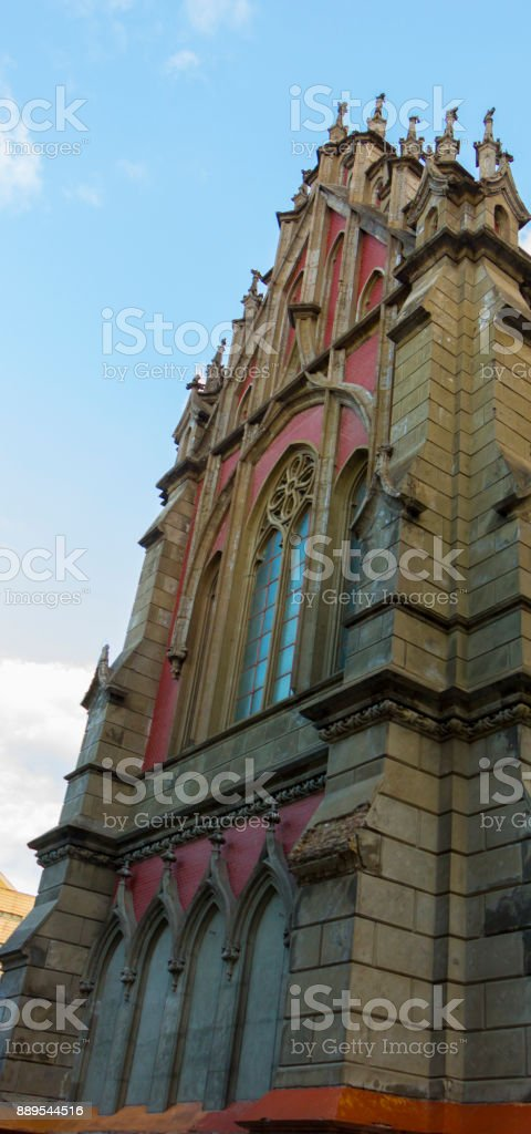 Exterior Of The Catholic Cathedral With Gothic Architecture Royalty Free Stock Photo