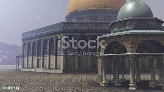istock Exterior of the Dome of the Rock in Jerusalem 492399514