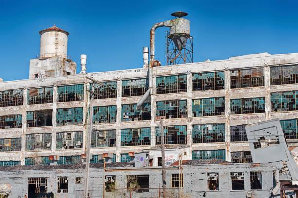 Äußere der Fisher Body Works Factory – Foto