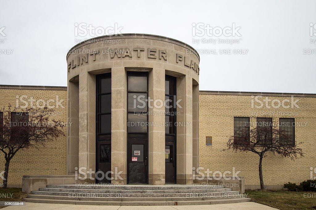 Exterior Of The Flint Michigan Water Plant stock photo
