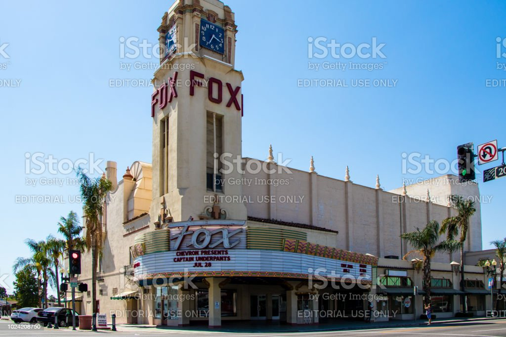 Exterior of the Fox Theatre, Bakersfield CA stock photo