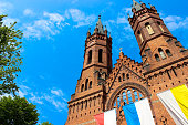 istock Exterior of the Gothic Catholic Church of the Holy Family 1093717774