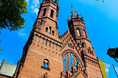 istock Exterior of the Gothic Catholic Church of the Holy Family 1093717778