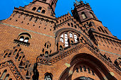 istock Exterior of the Gothic Catholic Church of the Holy Family 1093718546