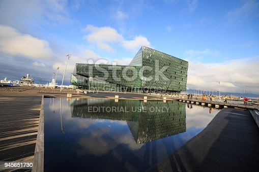 istock REYKJAVIK, ICELAND - FEBRUARY 13, 2017: Exterior of the Harpa Concert Hall 945651730